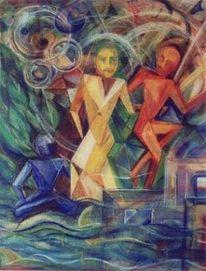 Neokubismus, Symbolisch, Psychologie, Zeichnung