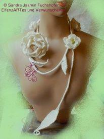 Blumen, Textil, Filzkunst, Felted