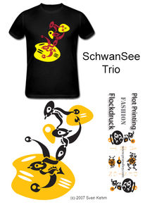 Tribal, Schwan, See, Morgen