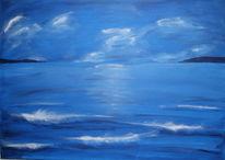 Meer, Malerei, Blau