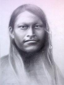 Blick, Zeichnung, Gesicht, Portrait