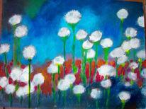 Farben, Blumen, Mischtechnik, Natur