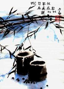 Malerei, Tuschmalerei, Chinesisch, Tee