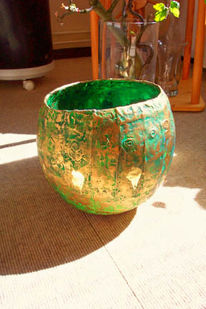 Gefäß, Grün, Kunsthandwerk, Objekt