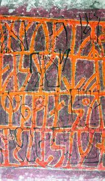 Chinesische schriftzeichen, Malerei, Tuschmalerei, Runen