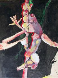 Malerei, Glied, Abstrakt, Puppe