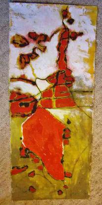 Acrylmalerei, Abstrakt, Baumwolle, Malerei