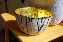 Schale, Keramik, Gold, Kunsthandwerk