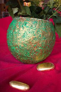 Gefäß, Gold, Kunsthandwerk, Grün
