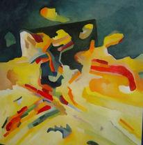 Malerei, Ölmalerei, Abstrakt, Strand