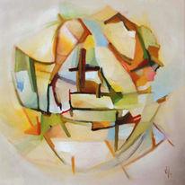 Abstrakt, Malerei, Ölmalerei, Arche