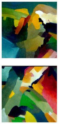Ölmalerei, Malerei, Abstrakt, Auferstehung