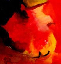 Rot, Ölmalerei, Malerei, Abstrakt