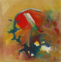Abstrakt, Malerei, Kuss