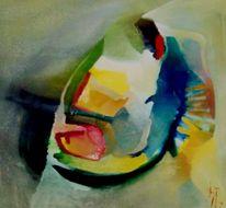 Donau, Ölmalerei, Malerei, Abstrakt