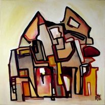 Freude, Liebe, Abstrakt, Malerei