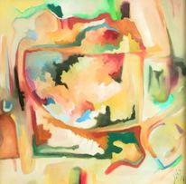 Ölmalerei, Malerei, Abstrakt, Labyrinth