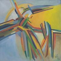 Malerei, Abstrakt, Ölmalerei, Feuervogel