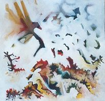 Malerei, Abstrakt, Gesang