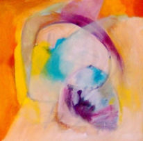 Krippe, Ölmalerei, Abstrakt, Malerei