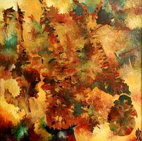 Wald, Ölmalerei, Malerei, Abstrakt