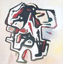 Abstrakt, Malerei, Krug