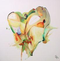 Abstrakt, Malerei, Ölmalerei, Tee