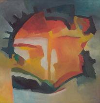 Abstrakt, Romanze, Malerei, Wolkig