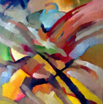 Malerei, Abstrakt, Morgengrauen