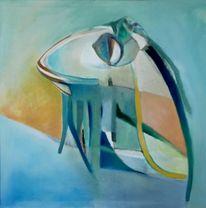 Ölmalerei, Malerei, Figural, Nixe