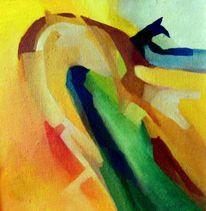 Malerei, Figural, Ölmalerei, Warten