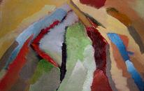 Malerei, Abstrakt, Ölmalerei, Weg