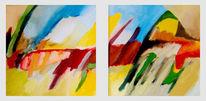 Ölmalerei, Abstrakt, Malerei, Weg