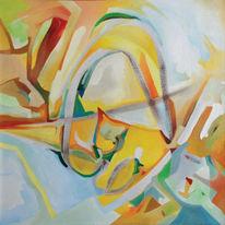Malerei, Ölmalerei, Abstrakt, Zelle
