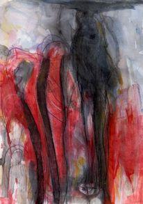 Sommer, Rot, Traum, Malerei