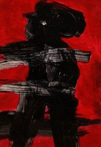 Rot, Surreal, Abstrakt, Malerei