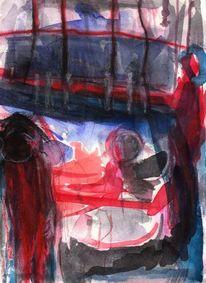 Surreal, Rot, Abstrakt, Malerei