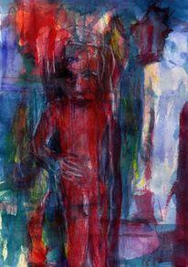 Figural, Abstrakt, Surreal, Rot