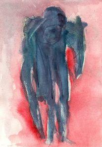 Surreal, Abstrakt, Rot, Figural