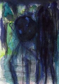Mond, Surreal, Blau, Abstrakt