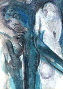 Blau, Surreal, Mond, Abstrakt