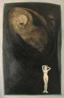 Figural, Malerei, Sein, Model