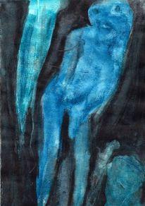Nacht, Surreal, Blau, Abstrakt