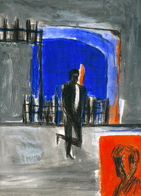 Malerei, Menschen, Mann