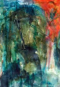 Rot, Landschaft, Surreal, Abstrakt