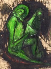 Malerei, Figural, Frosch