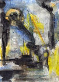 Surreal, Mond, Abstrakt, Figural