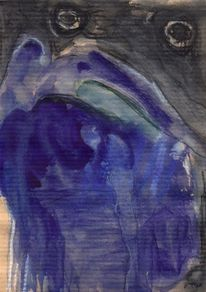 Abstrakt, Figural, Blau, Surreal