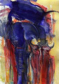 Rot, Figural, Blau, Surreal