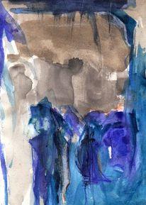 Figural, Blau, Surreal, Abstrakt